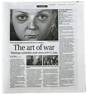 The Art of war - Paintings symbolize start views of 9/11, Iraq